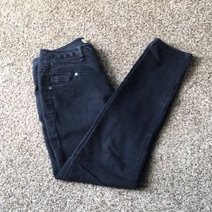 Junior Size 3 Black Straight Leg Jeans